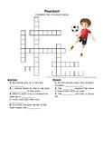 Football Vocab Crossword
