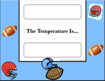 Football Weather Chart! Football Bulletin Board! Football Theme! Sports Theme!