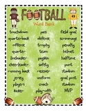 Football Word Bank and Writing Templates...Freebies!