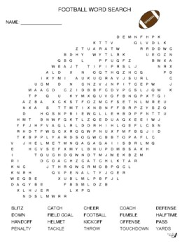 Football Word Search!