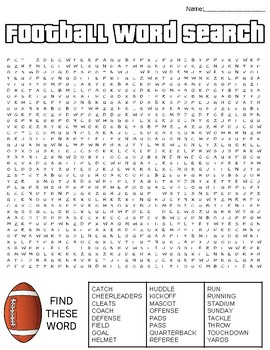 Football Word Search: 3 Difficulties