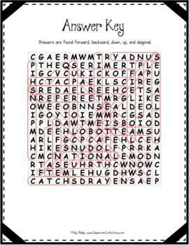 Football Word Search: Fun for the Super Bowl