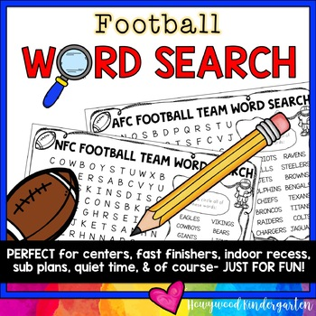 Football Word Search Puzzles