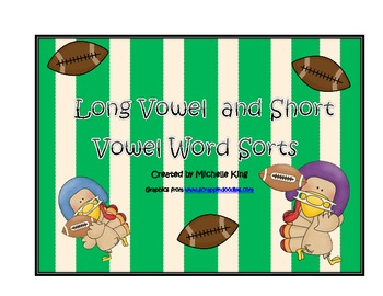 Football Word Sorts-Long and Short Vowels