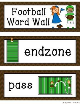 Football Word Wall Display
