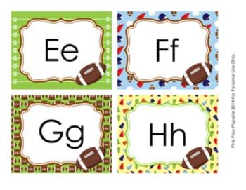 Football Word Wall Headers