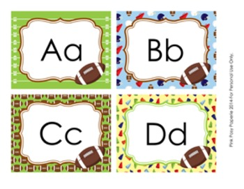 Football Word Wall Headers