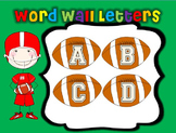 Football Word Wall Letters