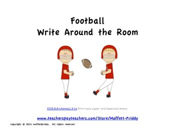 Football Write Around the Room