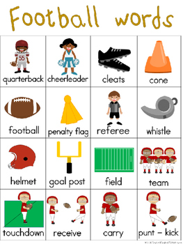 Football Writing Center Tools: Sports Words