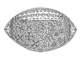 Football Zentangle Coloring Page
