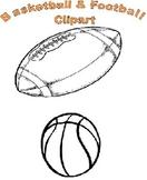 Football and Basketball Clipart