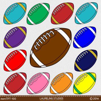 cartoon football clip art - 16 .png files with transparent backgrounds