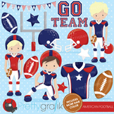 Football clipart commercial use, vector graphics, digital - CL721