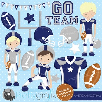Football clipart commercial use, vector graphics, digital - CL722