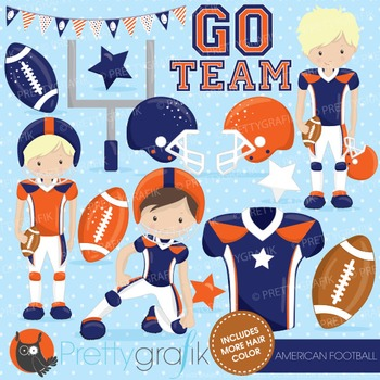 Football clipart commercial use, vector graphics, digital - CL723