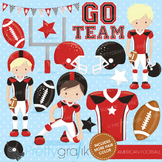Football clipart commercial use, vector graphics, digital - CL725