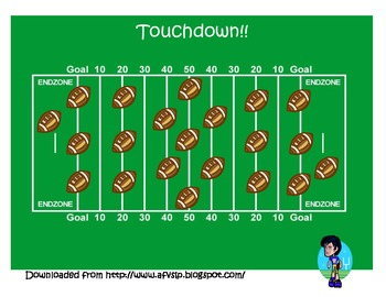 Football magnet chip and wand game