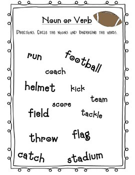 Football noun and verb sort
