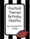 Football or Sports Theme - Birthday Display