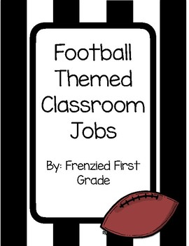 Football or Sports Themed Classroom Jobs Display