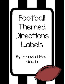 Football or Sports Themed Directions Labels or Posters