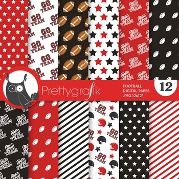 Football papers, commercial use, scrapbook papers - PS737
