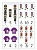 Football themed Count and Clip preschool educational cards