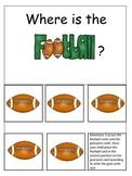 Football themed Positional Cards preschool educational gam