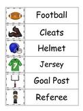 Football themed Word Wall preschool educational theme.  Daycare themes.