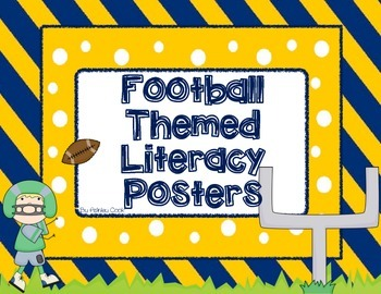 Football themed literacy signs