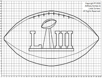 Football with Super Bowl Trophy Mystery Picture (1-Quad)