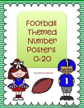 Sports/Football Themed Number Posters 0-20
