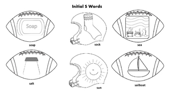 Football/Superbowl Articulation & Sight Word Coloring Pages & Flash Cards