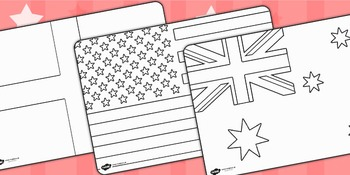 Football/World Cup Country Flags Colouring Sheets