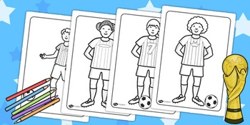 Football/World Cup Football Players Colouring Sheets