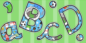Football/World Cup Lowercase Display Lettering