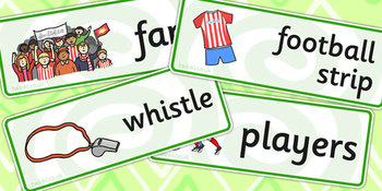 Football/World Cup Word Cards