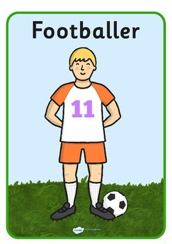 Footballers A4 Display Posters