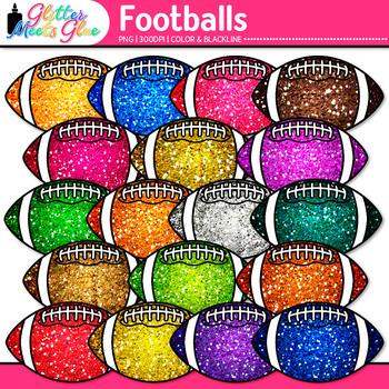 Rainbow Football Clip Art | Sports Equipment for Physical Education Teachers