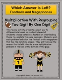 Footballs and Megaphones:  Multiplication With Regrouping (2-Digit By 1-Digit)