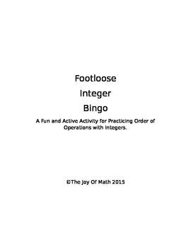 Footloose Integer Bingo