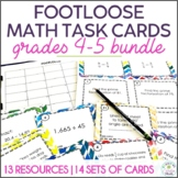 Math Task Cards, Grades 4-5 | Footloose Math Game Bundle