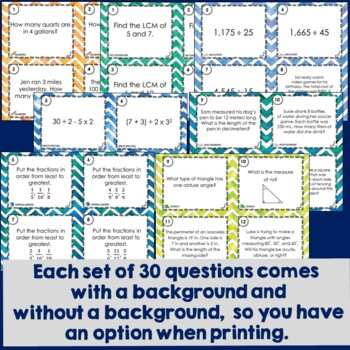 Math Task Card MEGA Bundle: 1290 Footloose Math Games