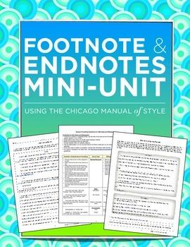 Footnotes and Endnotes Mini-Unit