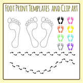 Footprint / Foot Print Templates Clip Art for Commercial Use
