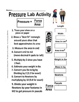 Footprint Lab - An Activity for Measuring Pressure