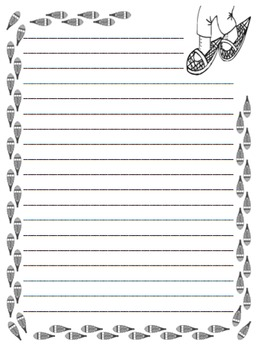 Footprint Writing Paper - 65 pages