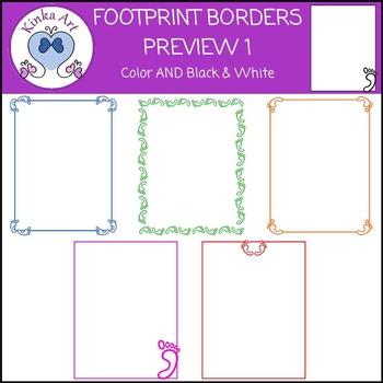 Footprint and Handprint Borders