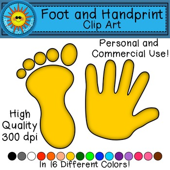 Footprint and Handprint Clip Art